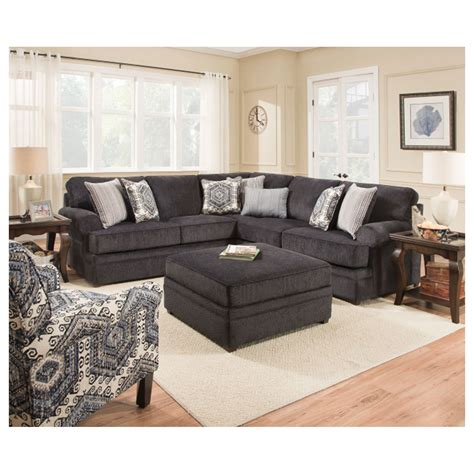 simmons sectional simmons sectional sofas olympian chocolate 2 pc sectional