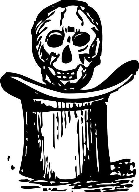 onlinelabels clip art skull  top hat