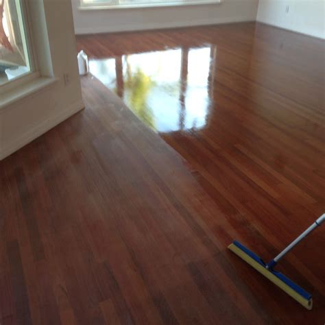 How To Polyurethane Wood Floor by Cherry Wood Floor Refinishing In St Augustine Fl