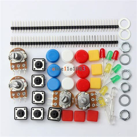 electronics resistor kit electronic parts pack kit for arduino component resistors switch button ebay