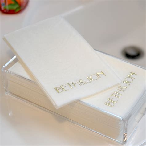 custom printed guest towels masslinn paper my wedding