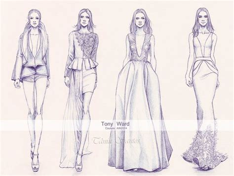 fashion illustration needed another fashion illustration doned in pencil from the tony ward couture aw2014 collection i was