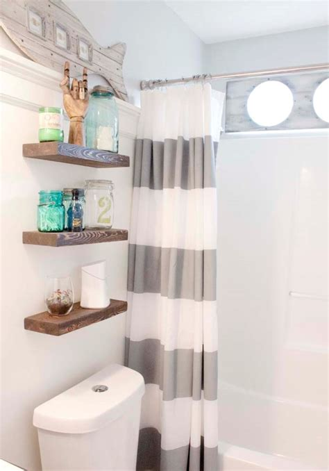 chic bathroom wall shelving ideas for cleaner bathroom