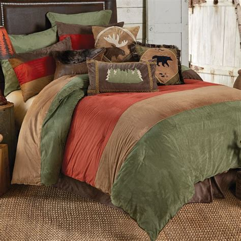 bear bedding sets outdoor adventure bear moose bed set king in a cabin