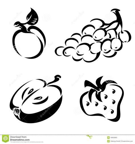 Imagenes Blanco Y Negro De Frutas | fruta blanco y negro fotos de archivo imagen 18950683