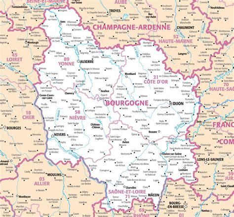 Carte De by Carte Bourgogne Carte Du Monde