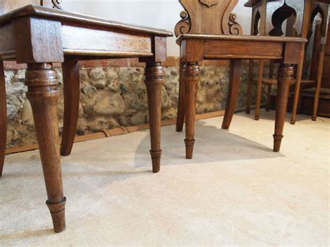 Cloverleaf Home Interiors by Chairs Pair Of William Iv Carved Oak Hall Chairs