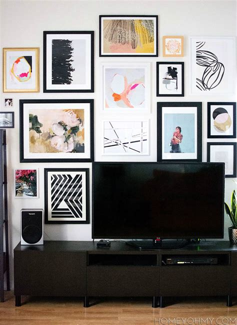 gallery art wall 40 tv wall decor ideas interior design blogs