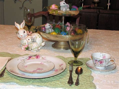 Dining Room Table Setting Dishes Living On Easter At My Home