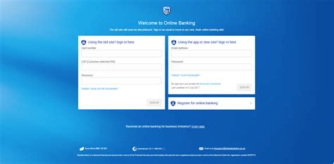 standard bank banking login page registering for new banking if you ve neve