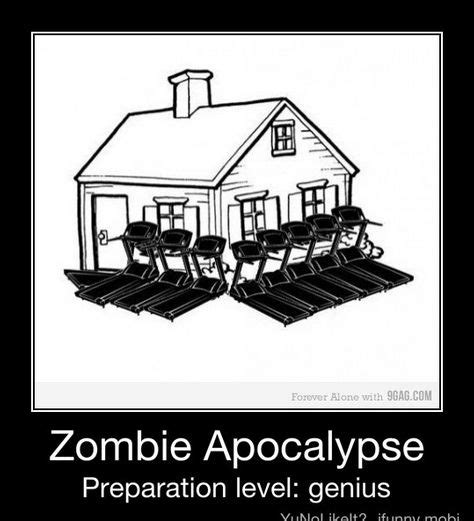 Funny Zombie Memes - prepare level genius walkers zombie apocalypse prep