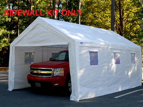 Cing Awnings And Canopies by King Canopy White Canopy Sidewall Kit With Flaps And