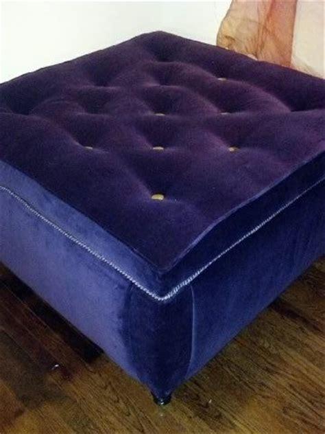 purple storage ottoman handmade tufted purple velvet storage ottoman by m elliott