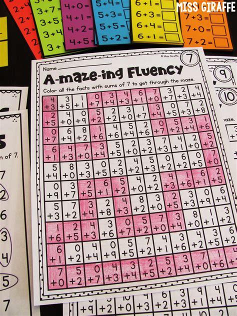 Fact Fluency Worksheets by Miss Giraffe S Class Fact Fluency In Grade