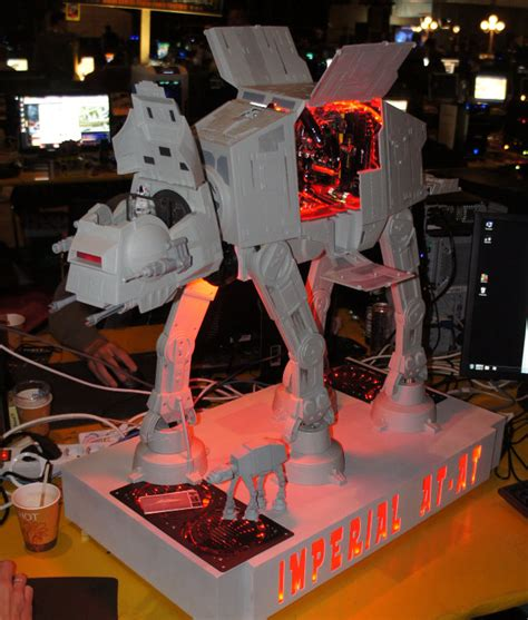 Star Wars Computer Desk Custom Made Imperial At At Gaming Pc Case Mod Geektyrant