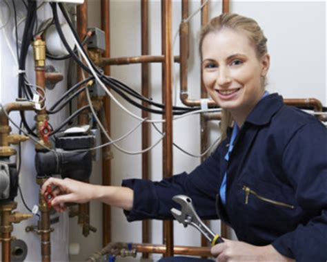 commercial woman plumber plumbing apprenticeships in the uk