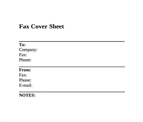 printable fax cover sheet 10 free sles exles format