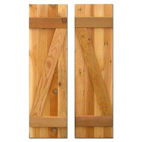 cedar z shutters design craft millworks 12 in x 39 in board n batten