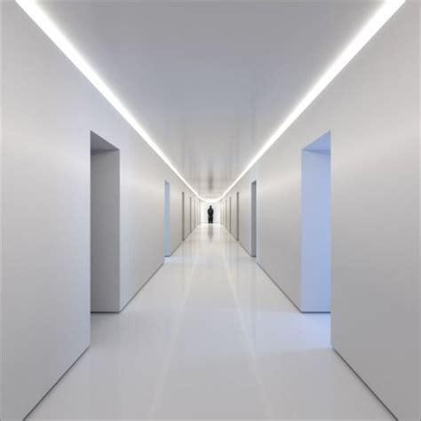 White Corridor minimalist corridor white interior spaces