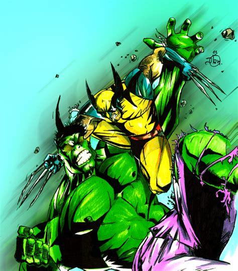 imagenes wolverine vs hulk hulk vs wolverine por 100hojas dibujando