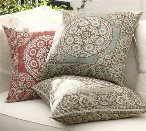 Patio Pillows And Cushions elsa mosaic outdoor pillow mediterranean outdoor cushions and pillows by pottery barn