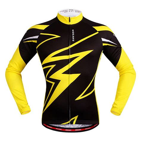 cycling jersey pattern download fashionable autumn outdoor long sleeves lightning pattern