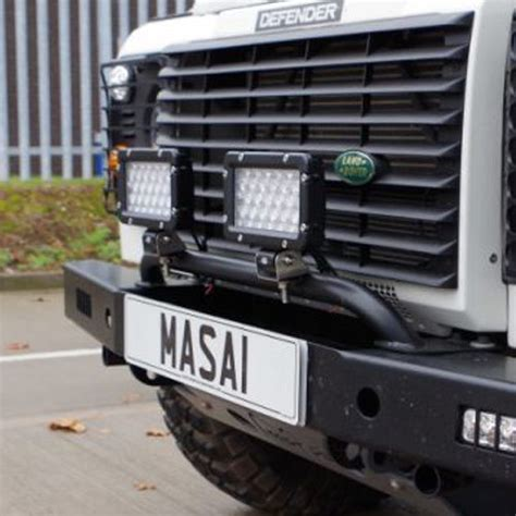 land rover defender bumper lights bumper light bar for land rover defenders front bumpers