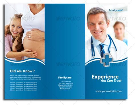 12 free premium medical brochure templates design freebies