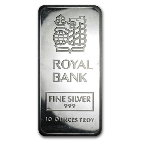 10 Oz Silver Bar Rcm 9999 New Style - 10 oz silver bar johnson matthey royal bank of canada