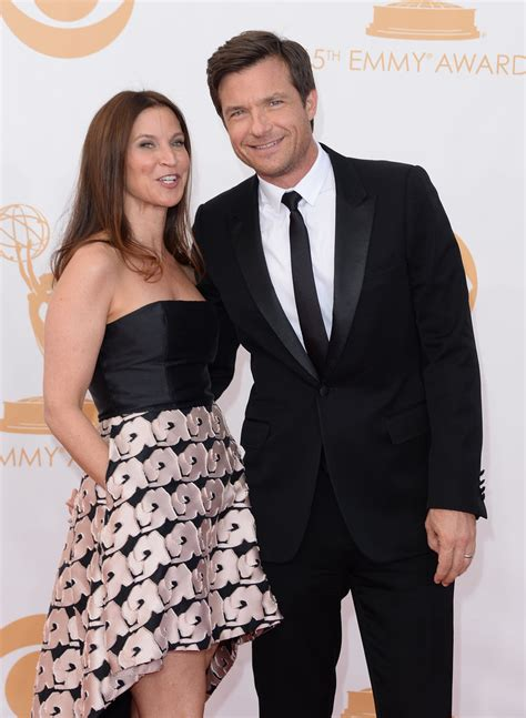 jason batemans wife celebrity couples at 2013 emmy awards and parties