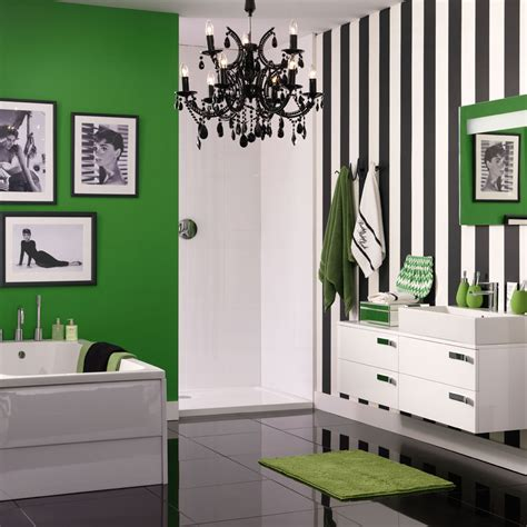 how to use green in black white room bathroom colour schemes ideal home