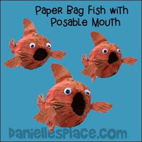 Paper Bag Fish Craft - pin by danielle s place of crafts on fish and the