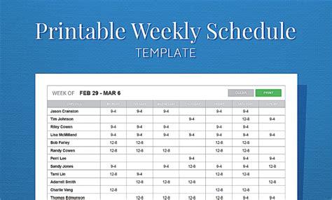 printable employee schedule maker weekly work schedule template temp excellent pictures