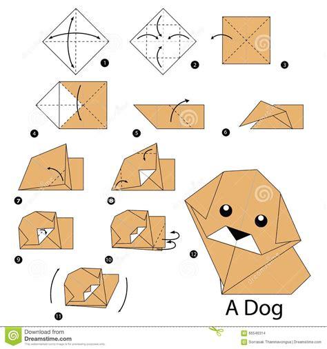 printable origami animal instructions 224 instructions 233 tape par 233 tape comment faire le chien d