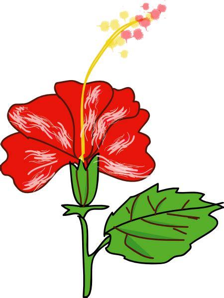 flower hibiscus clip art  clkercom vector clip art