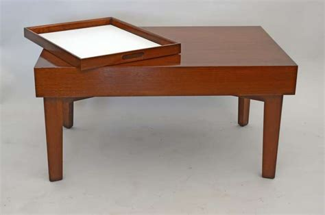 pull out coffee table george nelson coffee table with pull out trays for sale at