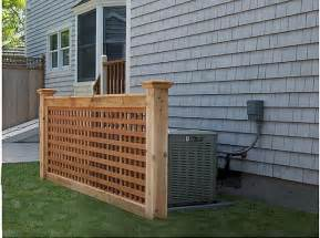 Cedar lattice screen traditional home fencing and