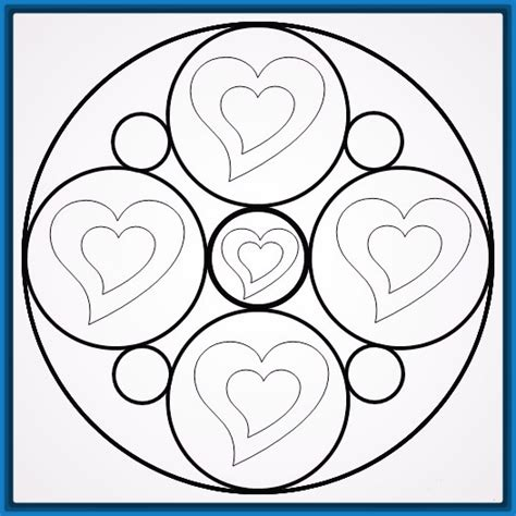 imagenes mandalas de corazones las bonitas mandalas para pintar faciles dibujos de mandalas