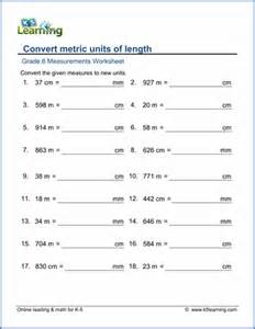 grade 6 measurement worksheets free amp printable k5