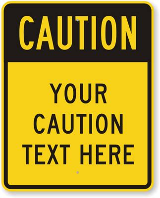 Custom Pedestrian Signs Templates Caution Sign Template