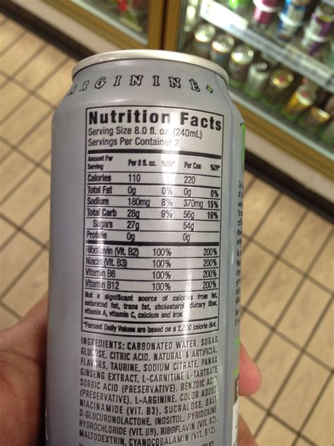 u energy drink nutritional information the gallery for gt white energy drink zero ultra