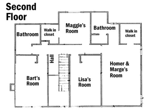simpsons house floor plan simpsons house floor plan