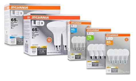 sylvania led light bulbs osram sylvania 10 year led light bulbs groupon
