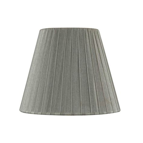 empire pleated l shades clip on empire pleated opaque pewter l shade sh9625