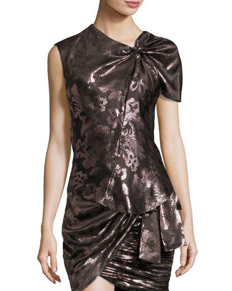 Claretta Top By Enter 8 sleeve mock wrap dress