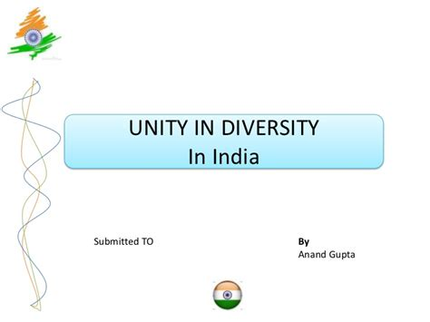 An Essay On Unity In Diversity by Unity In Diversity