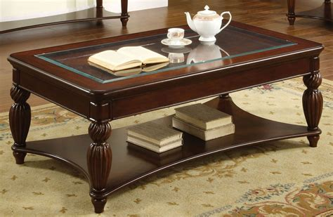 glass insert coffee table from furniture of