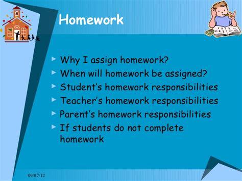 Nuys Middle School Homework by Responsibilities Of Homework