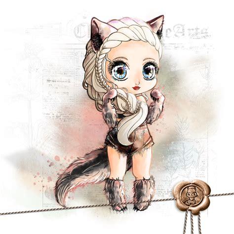 anime chibi wolf ysindra chibi wolf version by chibivi linearts on deviantart