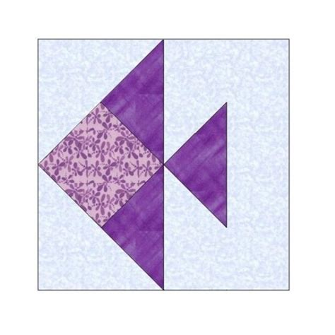 Paper Pieced Quilt Block Patterns by All Stitches Fish Paper Piecing Quilt Block Pattern Pdf